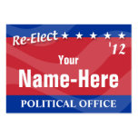 RE-ELECT - Political Campaign Business Card Templates