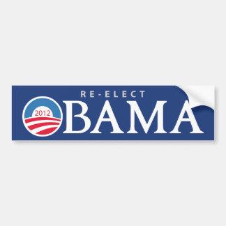 Re-Elect President Obama 2012 Bumpersticker Car Bumper Sticker