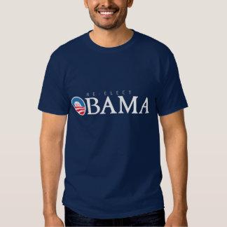 RE-ELECT President Obama 2012 (dark shirt) T Shirt
