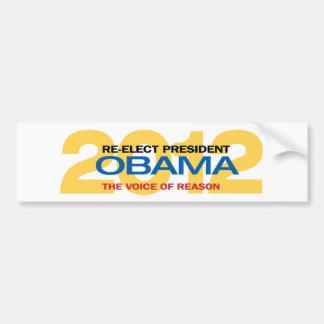 Re-elect President Obama Bumper Sticker Car Bumper Sticker
