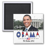 Re-Elect President Obama Election 2012 Gear 2 Inch Square Magnet