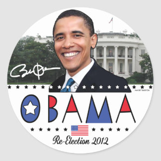 Re-Elect President Obama Election 2012 Gear Round Sticker