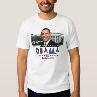 Re-Elect President Obama Election 2012 Gear Tee Shirt