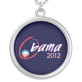 re-elect President Obama Round Pendant Necklace