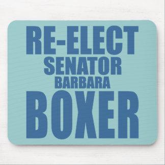 Re-Elect Senator Barbara Boxer Mouse Pad