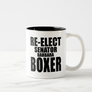 Re-Elect Senator Barbara Boxer Mug