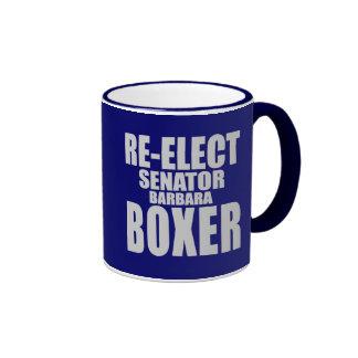 Re-Elect Senator Barbara Boxer Mugs