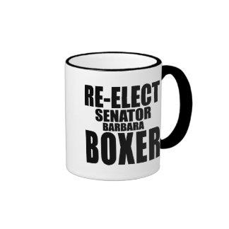 Re-Elect Senator Barbara Boxer Ringer Mug