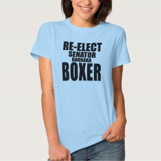 Re-Elect Senator Barbara Boxer Tee Shirt