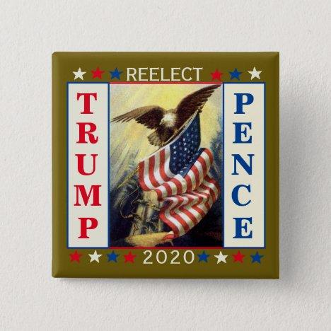 Re-Elect Trump Pence Button