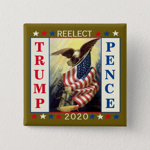 Re_Elect Trump Pence Button
