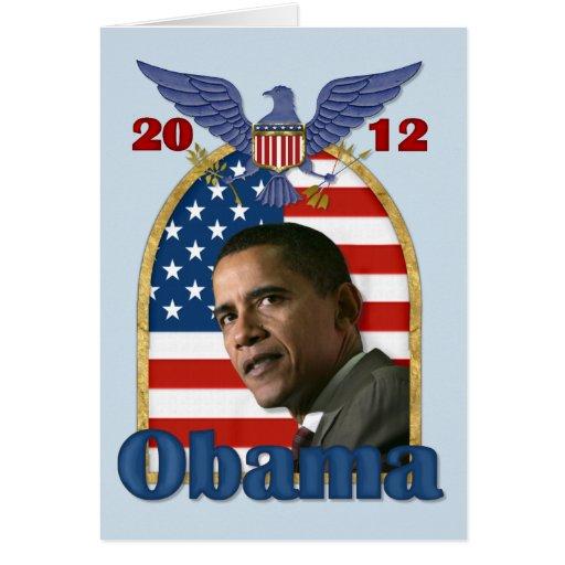 Re-Election Barack Obama for 2012 Card