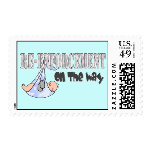 Re-Enforcement On The Way blue Postage