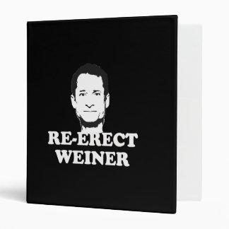 RE-ERECT WEINER png 3 Ring Binder