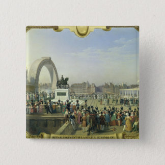 Re-establishment Statue of Henri IV on Pont Pinback Button