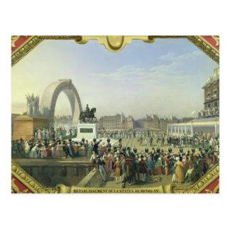Re-establishment Statue of Henri IV on Pont Postcard