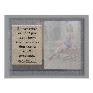 Re-Examine - Walt Whitman quote - art print