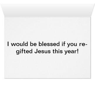 re-gifting navidad tarjeta de felicitación