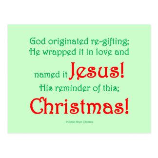 re-gifting navidad tarjetas postales