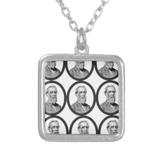 RE LEE IN ROWS SILVER PLATED NECKLACE