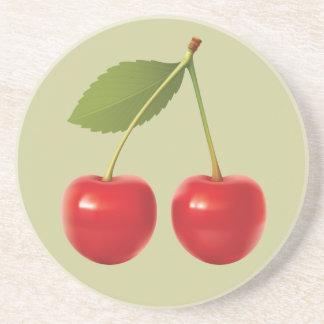 Re práctico de costa de las cerezas posavasos manualidades
