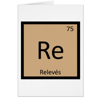 Re - Releves Chemistry Periodic Table Symbol Card