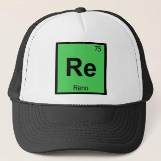 Re - Reno Nevada Chemistry Periodic Table City Trucker Hat