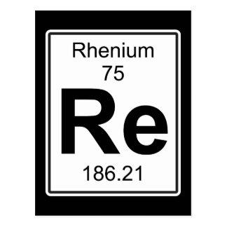 Re - Rhenium Postcard