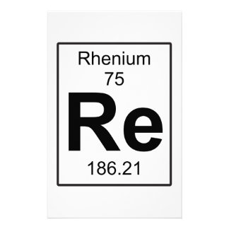 Re - Rhenium Stationery