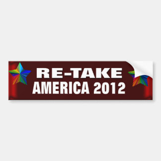 Re-take America Car Bumper Sticker