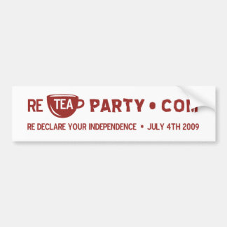Re Tea Party Bumper Sticker