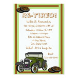 """Re-Tired/ Retirement Party 5"""" X 7"""" Invitation Card"""