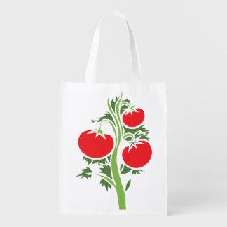 Re-Usable Bag With Tomatoes Grocery Bag