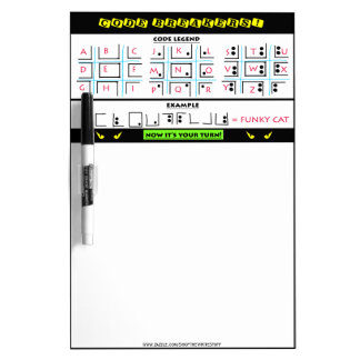 Re-Usable Code Breaking Game Board Dry-Erase Whiteboards