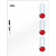 Re-useable 3-thermometers Dry Erase Board at Zazzle