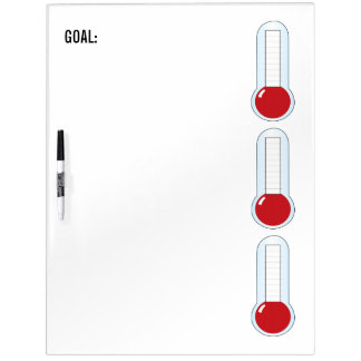 Re-useable 3-Thermometers Dry Erase Board