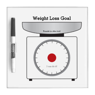 Re-useable Weight Loss Goals (20 sections) Dry-Erase Board