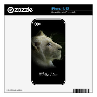 re White Lion Wild Cat Lion-Lover iPhone Skin Decals For iPhone 4