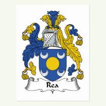 Rea Family Crest Postcard