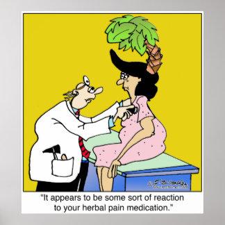 Reacción a la medicación herbaria póster