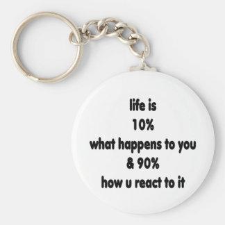 Reacción de la vida llaveros personalizados