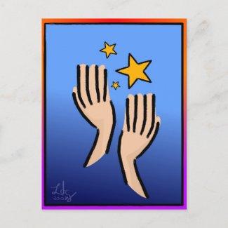 Reach 4 The Stars Postcard postcard