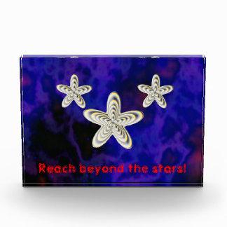 Reach beyond the stars! acrylic award