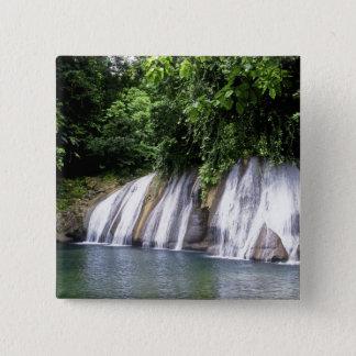 Reach Falls, Port Antonio, Jamaica Pinback Button