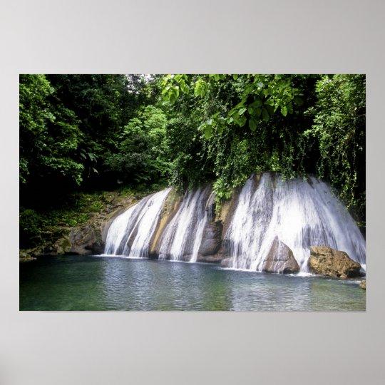 Reach Falls, Port Antonio, Jamaica Poster