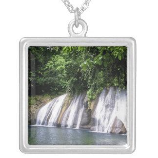 Reach Falls, Port Antonio, Jamaica Silver Plated Necklace