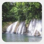 Reach Falls, Port Antonio, Jamaica Square Stickers
