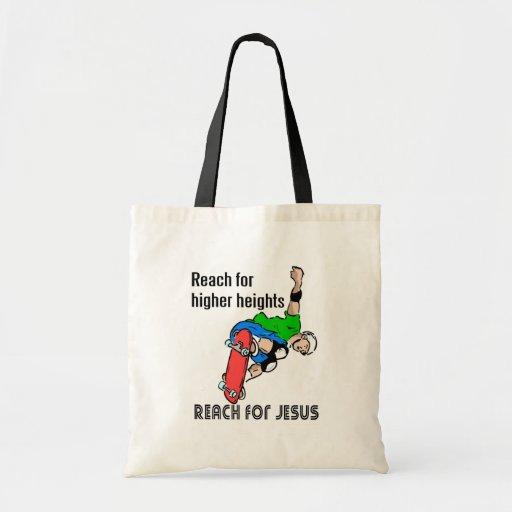 Reach for Jesus skateboarder Tote Bag