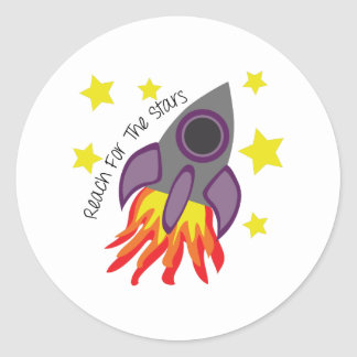 Reach For Stars Classic Round Sticker