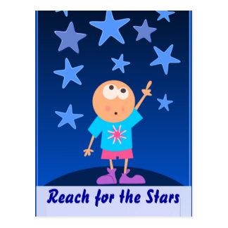reach for stars postcard